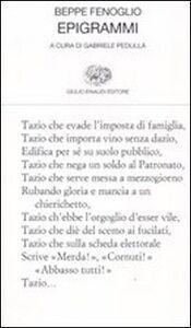 Libro Epigrammi Beppe Fenoglio