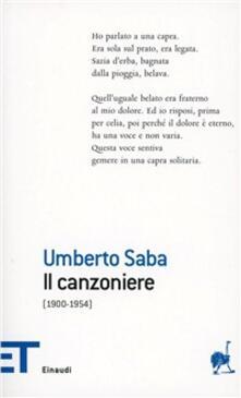Il canzoniere - Umberto Saba - copertina