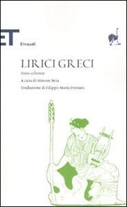 Lirici greci. Testo greco a fronte - copertina