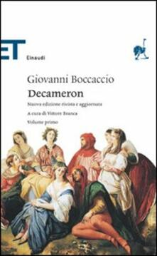 Il decameron - Giovanni Boccaccio - copertina
