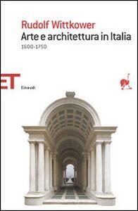 Libro Arte e architettura Rudolf Wittkower
