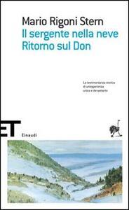 Il sergente nella neve-Ritorno sul Don - Mario Rigoni Stern - copertina