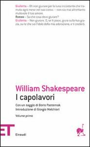 I capolavori. Vol. 1 - William Shakespeare - copertina