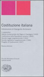 Foto Cover di Costituzione italiana, Libro di  edito da Einaudi