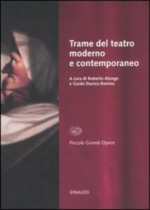 Trame del teatro moderno e contemporaneo - copertina
