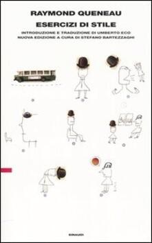 Esercizi di stile - Raymond Queneau - copertina