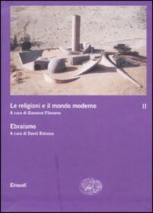Le religioni e il mondo moderno. Vol. 2: Ebraismo. - copertina