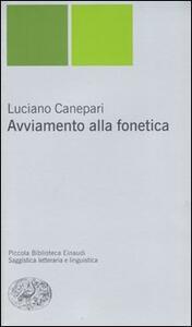 Avviamento alla fonetica - Luciano Canepari - copertina
