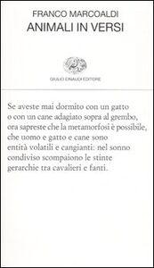 Foto Cover di Animali in versi, Libro di Franco Marcoaldi, edito da Einaudi