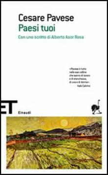 Paesi tuoi - Cesare Pavese - copertina
