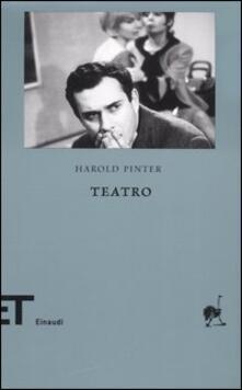 Teatro vol. 1-2 - Harold Pinter - copertina