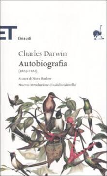 Autobiografia (1809-1882) - Charles Darwin - copertina