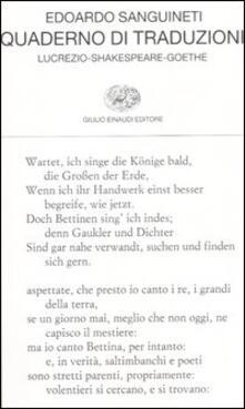 Quaderno di traduzioni. Lucrezio-Shakespeare-Goethe. Testo originale a fronte.pdf