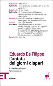 Libro Cantata dei giorni dispari. Vol. 2 Eduardo De Filippo