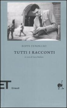 Tutti i racconti - Beppe Fenoglio - copertina