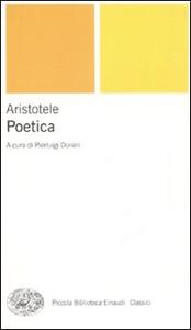 Libro Poetica. Testo greco a fronte Aristotele