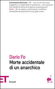 Libro Morte accidentale di un anarchico Dario Fo