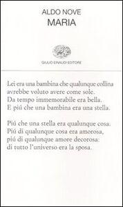 Libro Maria Aldo Nove