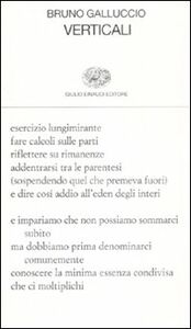 Foto Cover di Verticali, Libro di Bruno Galluccio, edito da Einaudi