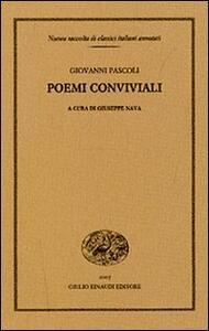 Poemi conviviali - Giovanni Pascoli - copertina