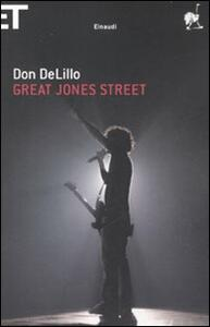 Great Jones street - Don DeLillo - copertina