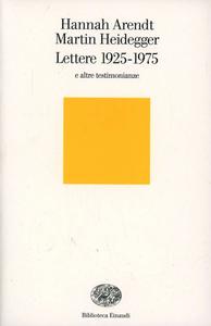Libro Lettere 1925-1975 e altre testimonianze Hannah Arendt , Martin Heidegger