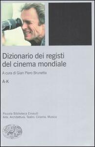 Dizionario dei registi del cinema mondiale - copertina