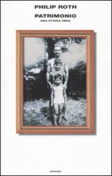 Patrimonio. Una storia vera - Philip Roth - copertina