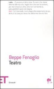 Teatro - Beppe Fenoglio - copertina