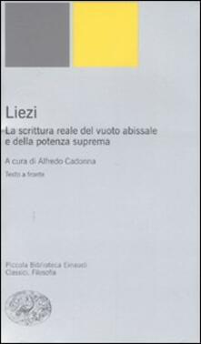 Cocktaillab.it Liezi. La scrittura reale del vuoto abissale e della potenza suprema. Testo cinese a fronte Image
