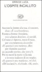 Libro L' ospite incallito Erri De Luca