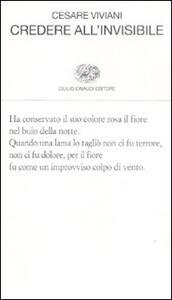 Credere all'invisibile - Cesare Viviani - copertina