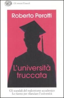 L' università truccata - Roberto Perotti - copertina