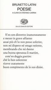 Libro Poesie Brunetto Latini