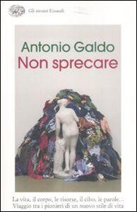 Foto Cover di Non sprecare, Libro di Antonio Galdo, edito da Einaudi