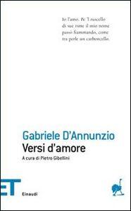Foto Cover di Versi d'amore, Libro di Gabriele D'Annunzio, edito da Einaudi