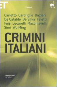 Libro Crimini italiani