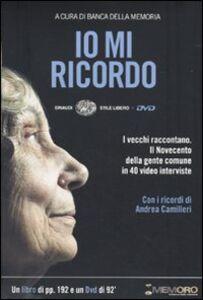 Foto Cover di Io mi ricordo. Con DVD, Libro di  edito da Einaudi