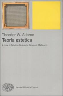 Teoria estetica - Theodor W. Adorno - copertina