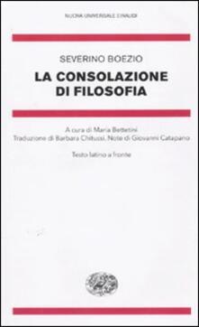 Ipabsantonioabatetrino.it La consolazione di filosofia. Testo latino a fronte Image