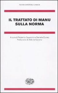 Foto Cover di Il trattato di Manu sulla norma, Libro di  edito da Einaudi