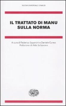 Il trattato di Manu sulla norma - copertina