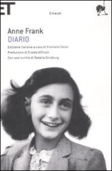 Diario - Anne Frank - copertina