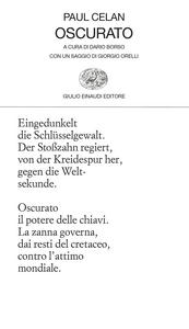 Libro Oscurato. Testo tedesco a fronte Paul Celan