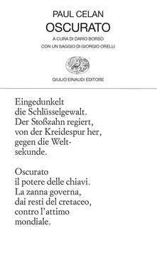 Oscurato. Testo tedesco a fronte - Paul Celan - copertina