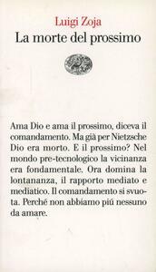 La morte del prossimo - Luigi Zoja - copertina