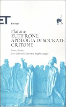 Milanospringparade.it Eutifrone-Apologia di Socrate-Critone. Testo greco a fronte Image