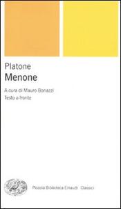 Libro Menone. Testo greco a fronte Platone