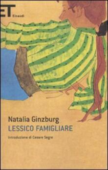 Lessico famigliare - Natalia Ginzburg - copertina