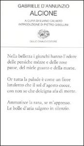 Libro Alcione Gabriele D'Annunzio